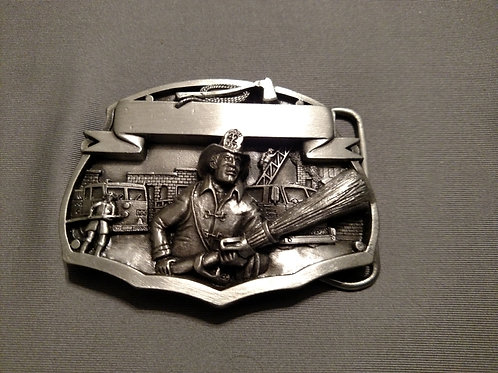 Collectable Firefighter Belt Buckle 1987