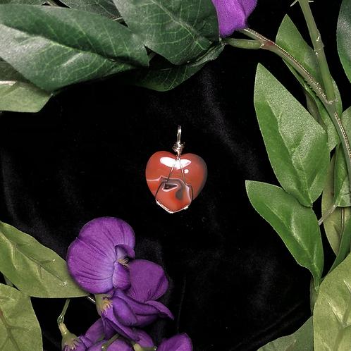 Carnelian Heart Pendant