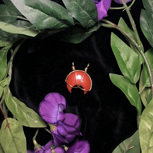Red Jasper Moon Pendant