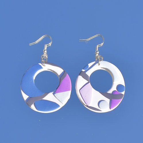 Funky Polymer Clay Hoops