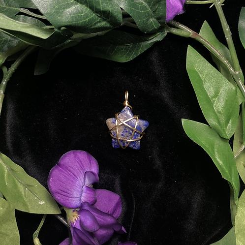 Lapis Lazuli Star Pendant