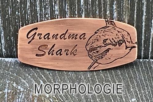 Grandma Shark Copper & Leather Bracelet