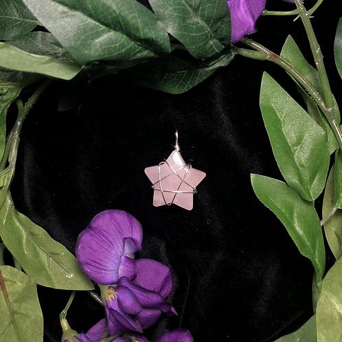 Rose Quartz Star Pendant