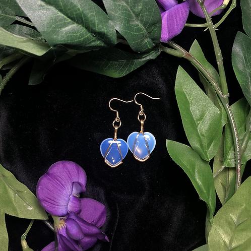 Opalite Heart Earrings