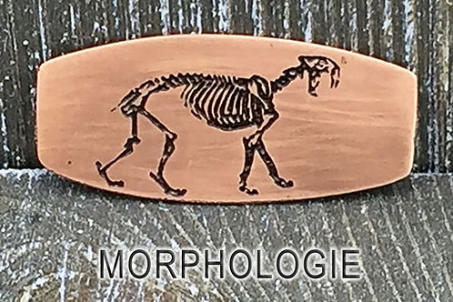 Saber-Toothed Cat Copper & Leather Bracelet