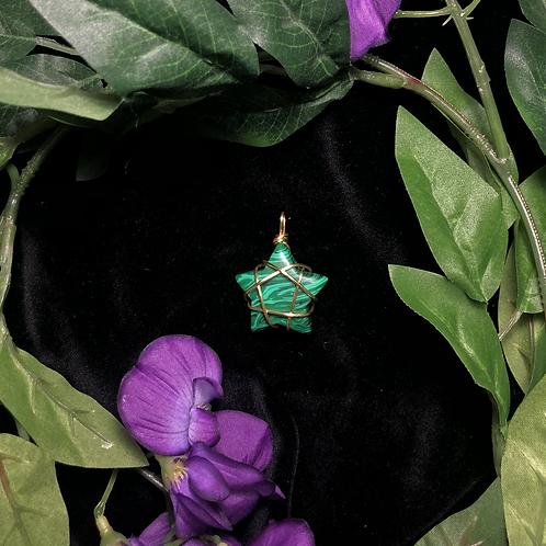 Malachite Star Pendant