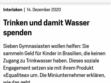 equalitea in der Jungfrau Zeitung