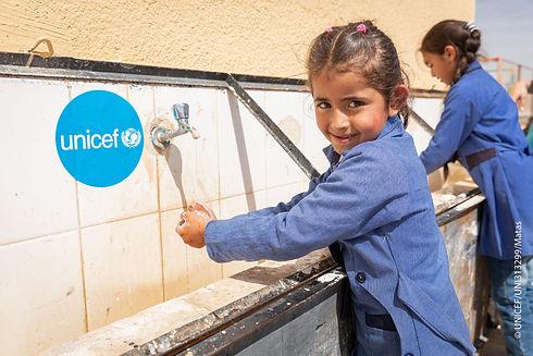 UNICEF Mädchen, das lächelt