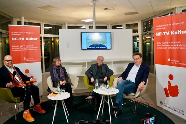 PREMIERE: RE-TV Kultur startet erfolgreich in der Stadtbibliothek Recklinghausen
