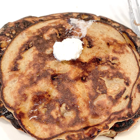 3 Ingredient Banana, Walnut* Pancakes