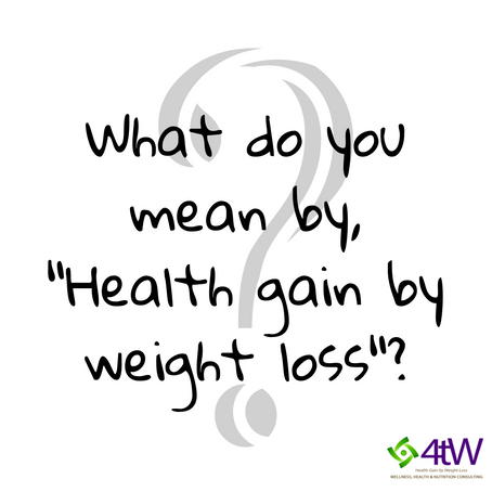 Health Gain by Weight Loss