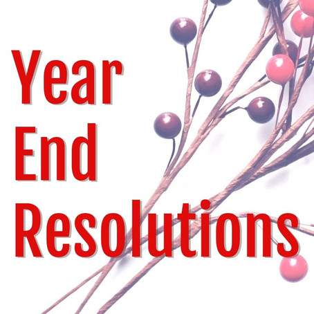 Year End Resolutions