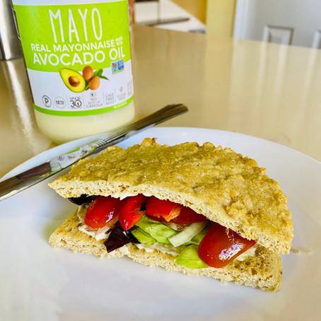 No-Corn Bread Veggie Sandwich