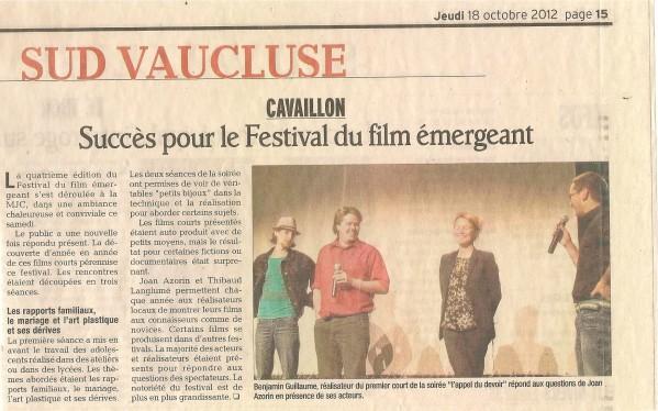 Presse Festival de Cavaillon