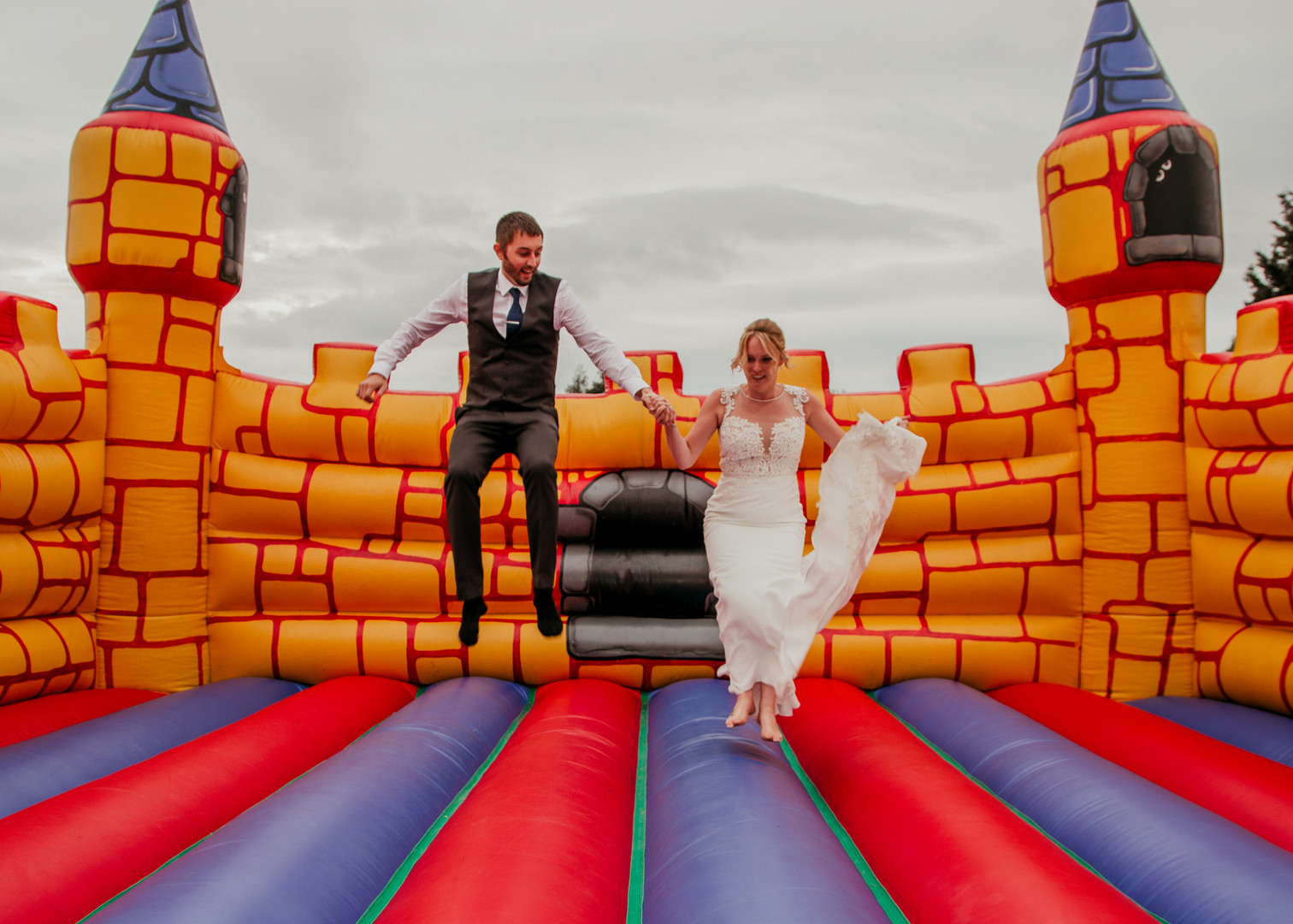 Bouncy Castle Wedding