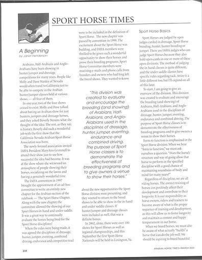 Sport Horse A Beginning Page 1.jpg