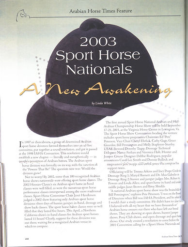 Sport Horse Nationals 2003 Page 1.jpg