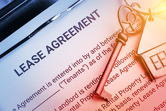 Business lease agreement concept : Pen a