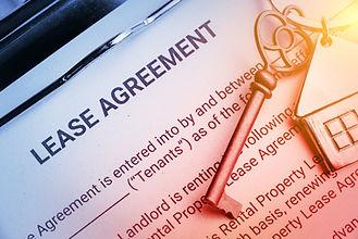 Business lease agreement concept : Pen a