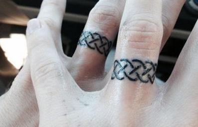 Tattoo Wedding Ring.Tattooed Wedding Rings