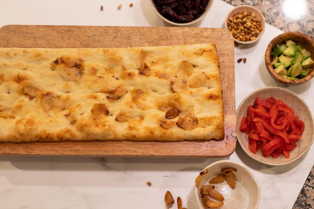 shabbos lunch flatbread