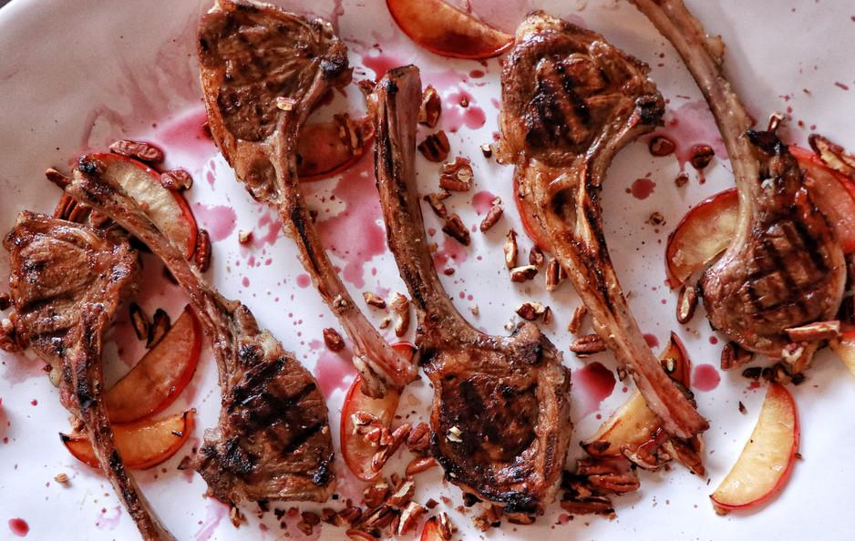 Sticky & Sweet Charoset Inspired Lamb
