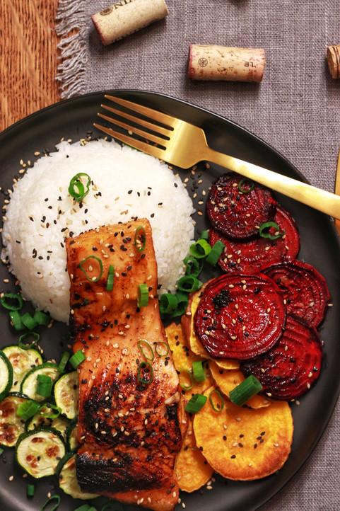 Seared Honey Garlic & Soy Salmon