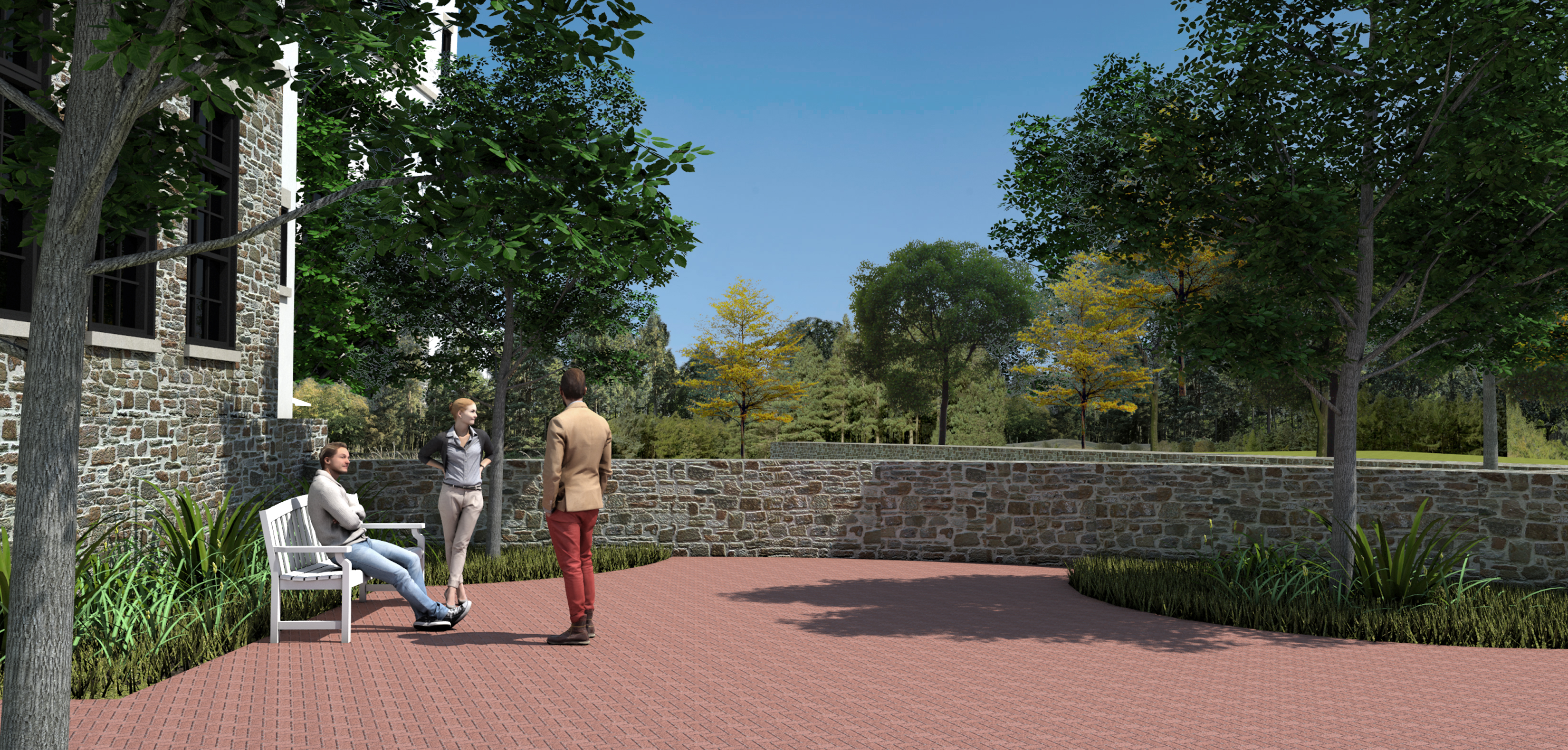 patio at new town