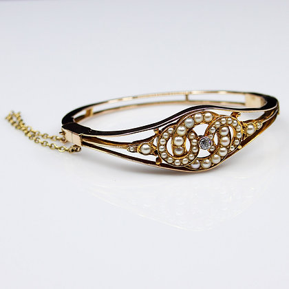 Pearl & Diamond Edwardian Bangle