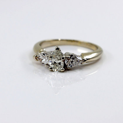 Pear Shaped Trio Engagement Ring