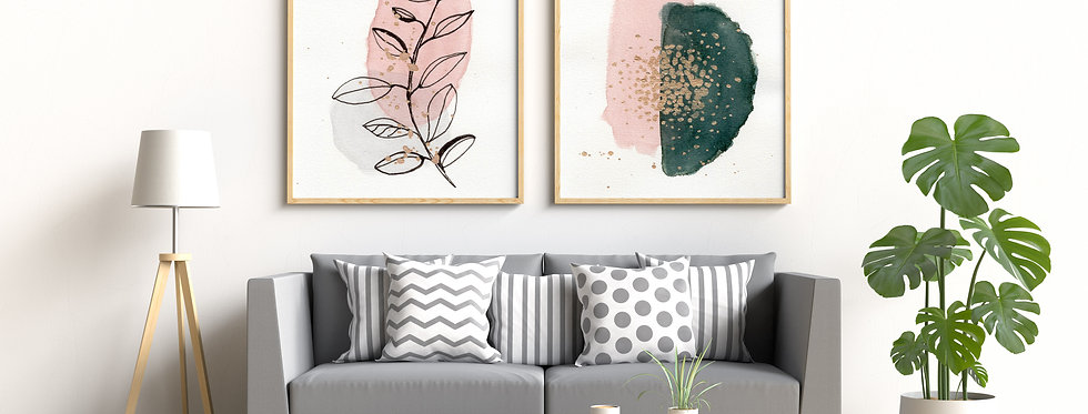 Set of 2 Abstract Watercolour_701