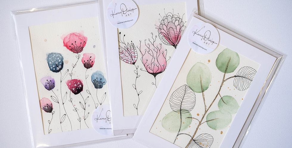 Pack of 3 cards - Botanicals One
