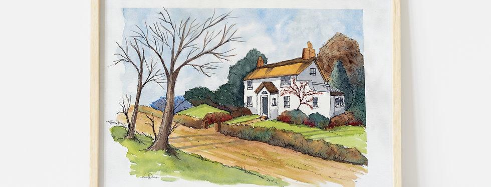 Cotswold Cottage - Watercolour