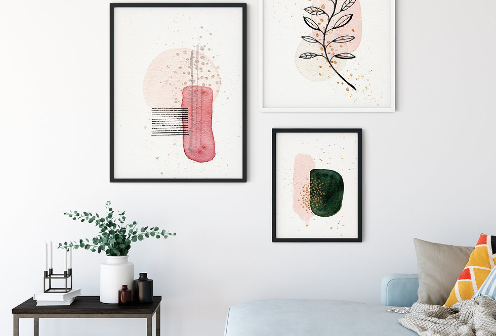 Set of 3 Abstract Watercolour