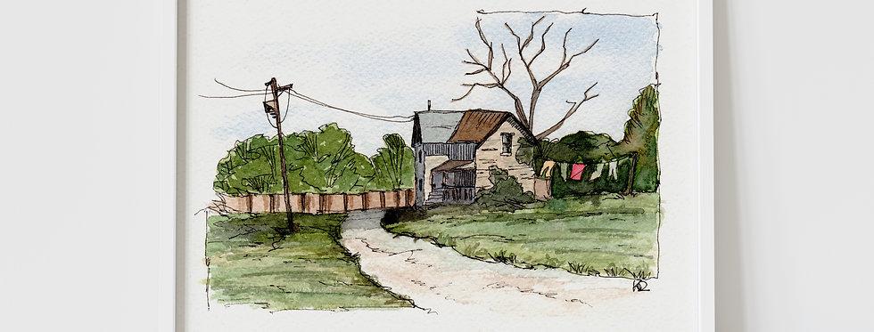 The Old Farmhouse - Watercolour