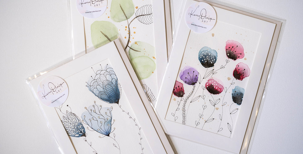 Pack of 3 cards - Botanicals Two