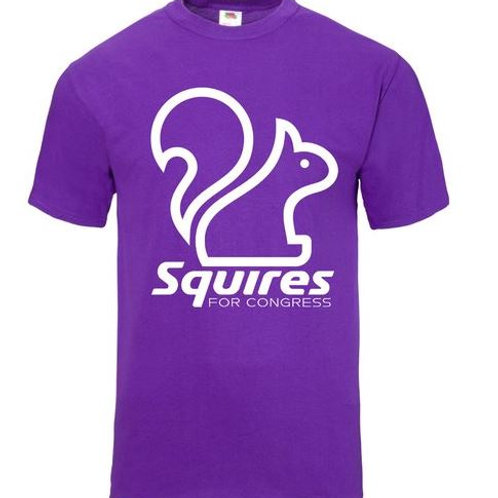 Squires for Congress Purple Tshirt