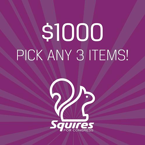 Pick any three items!