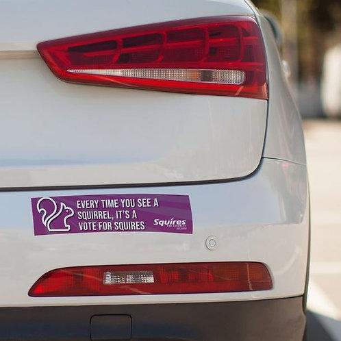 Squires For Congress Bumper Sticker