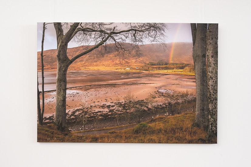 Rainbow over Applecross Bay Canvas