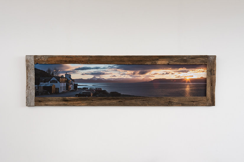 Applecross Inn Sunset Larch Post Frame