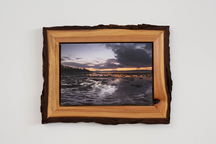 Reflection on Applecross Bay Waney Edged Frame