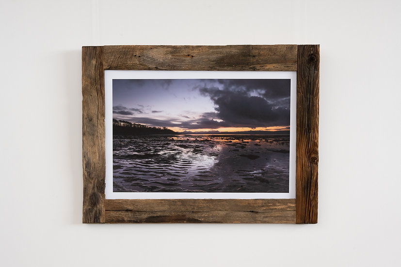 Reflection on Applecross Bay Larch Post Frame