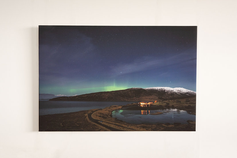 Burns Night Aurora Canvas
