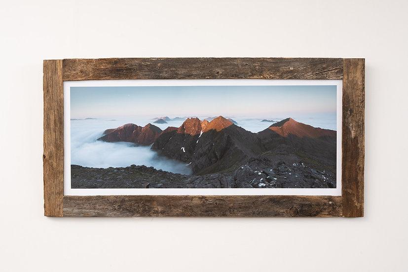 Sunrise on An Teallach Larch Post Frame