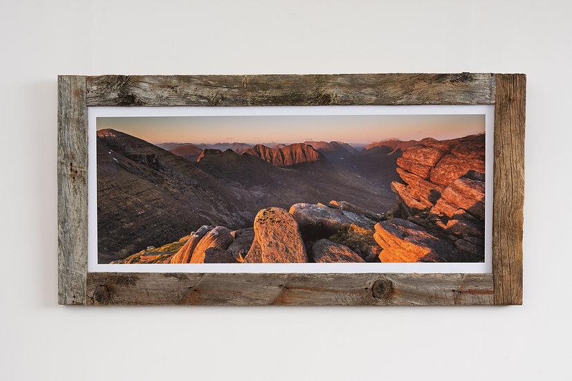 Sunset on Beinn Alligin Larch Post Frame