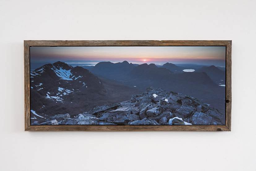 Liathach May Sunset Floating Post Frame
