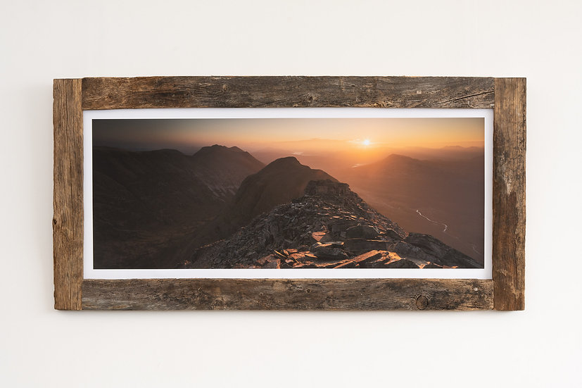 Liathach October Sunrise Larch Post Frame