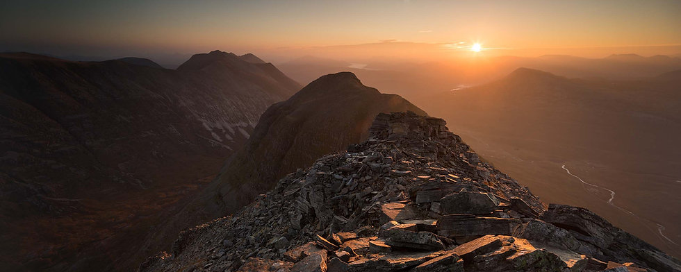 Liathach October Sunrise Signed Print