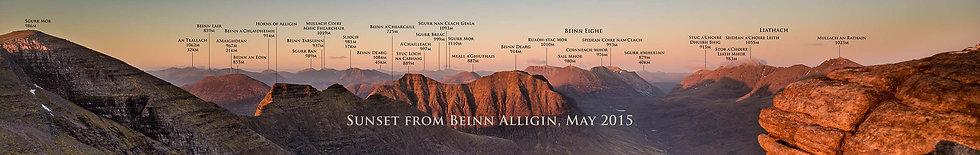 Beinn Alligin Named Signed Print